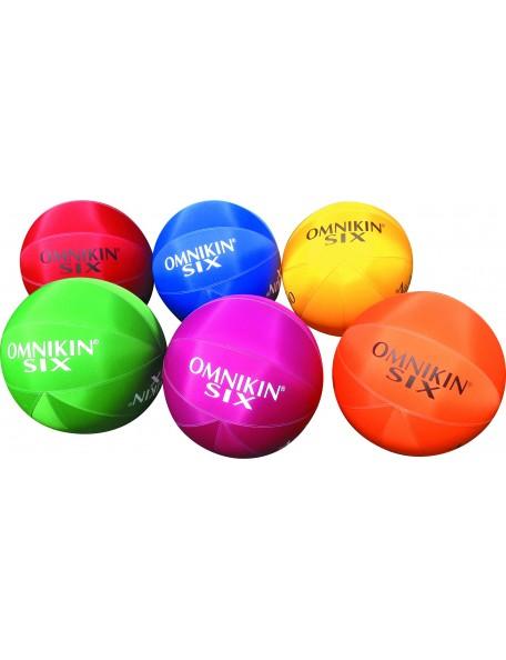 6 ballons Omnikin six pour jeu de ballon géant de kin ball Omnikin
