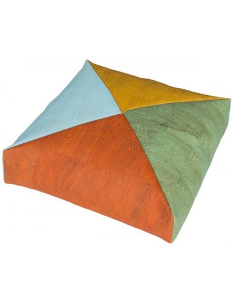 Coussin carré en liège 4 couleurs - 1