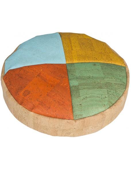 Coussin rond en liège 4 couleurs - 1