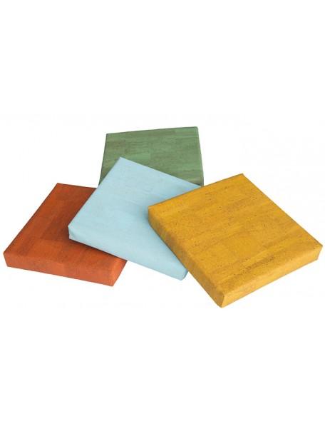 4 coussins carrés en liège - 1