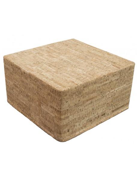 Pouf carré en liège - 1
