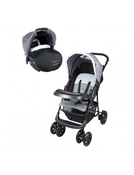 Poussette bébé 4 roues avec siège auto - 1