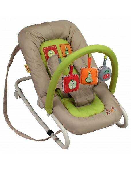 Transat balancelle avec harnais 5 points Transat balancelle avec arche de jeux pour l'éveil de bébé. L'avantage de ce transat b