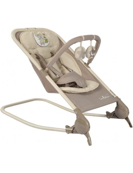 Transat balancelle avec barre de jeux amovible Transat balancelle gris, avec barre de jeux pour l'éveil de bébé.