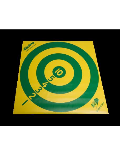 Cible de curling numérotée jaune et verte