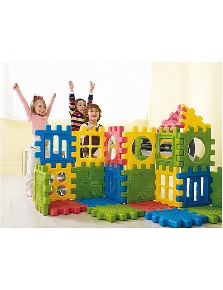 12 blocs de construction géants de motricité pour assembler et construire. Matériel de psychomotricité pour enfants.
