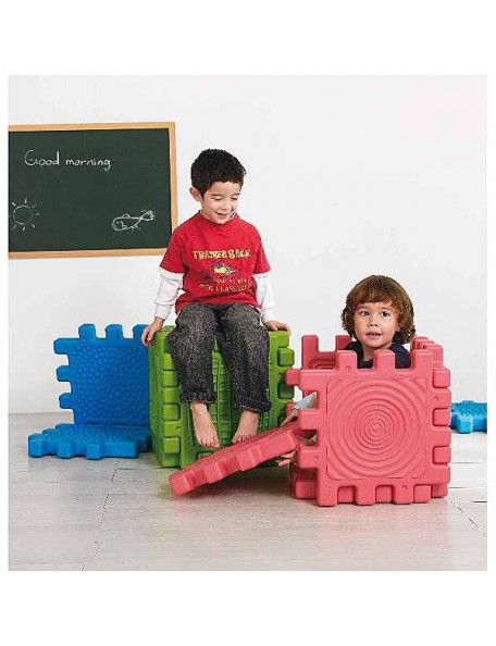 6 blocs de constrution géants et tactiles pour la motricité des enfants