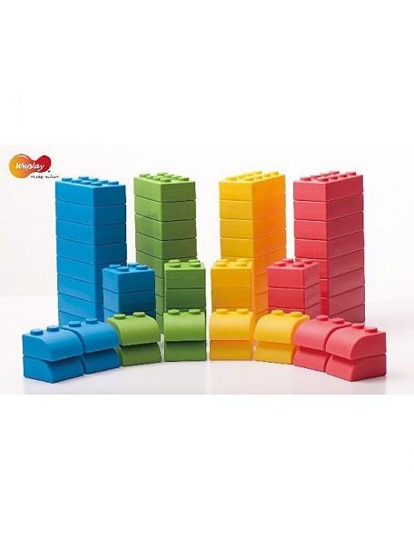 64 briques géantes de construction et d'assemblage pour la motricité des enfants