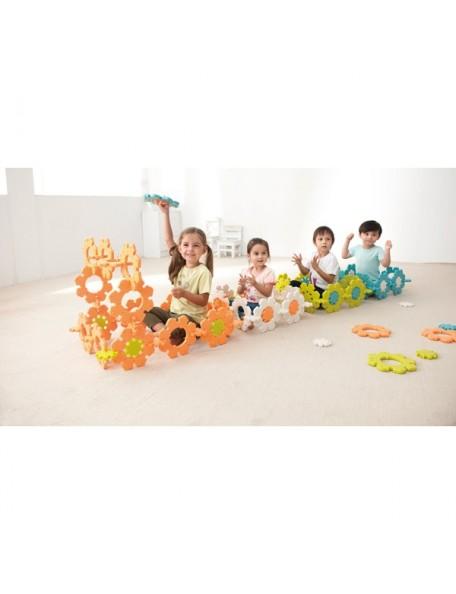 Fleurs glacées à assembler, matériel de psychomotricité à assembler en forme de fleurs pour enfants