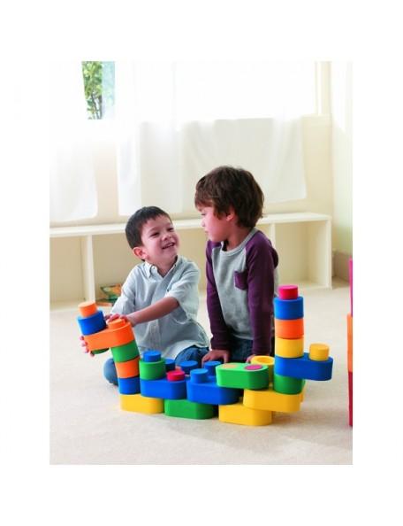 Blocs de construction 3D à assembler, matériel de psychomotricité pour les enfants