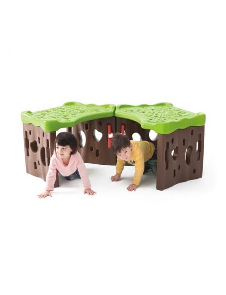 Le tunnel de la forêt à assembler, matériel géant de motricité pour les jeux des enfants