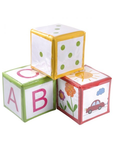 Lot de 3 dés de grande taille personnalisables pour enfants, écoles.