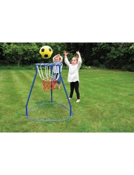 Méga panier géant de basket-ball pour enfants, panier géant transportable et à ranger facilement