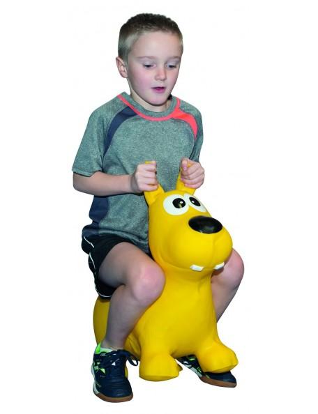 Animal sauteur gonflable pour l'équilibre et la psychomotricité des enfants
