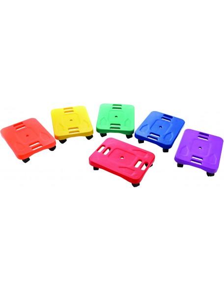 Scooter ergonomique mobile avec roues pour le psychomotricité et les déplacements des enfants
