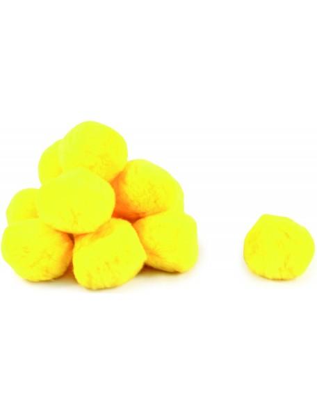 Balles en coton sécurisées pour jeux de raquettes des enfants. Lot de 12 balles jaunes en coton