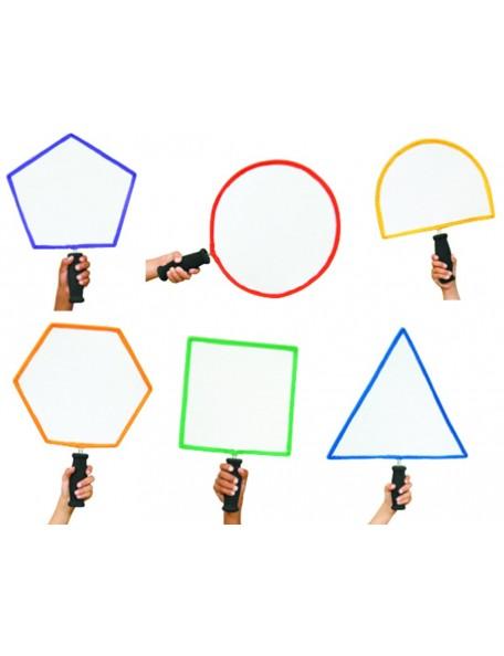 Lot de 6 raquettes de formes géométriques pour l'initiation des enfants aux jeux de raquettes