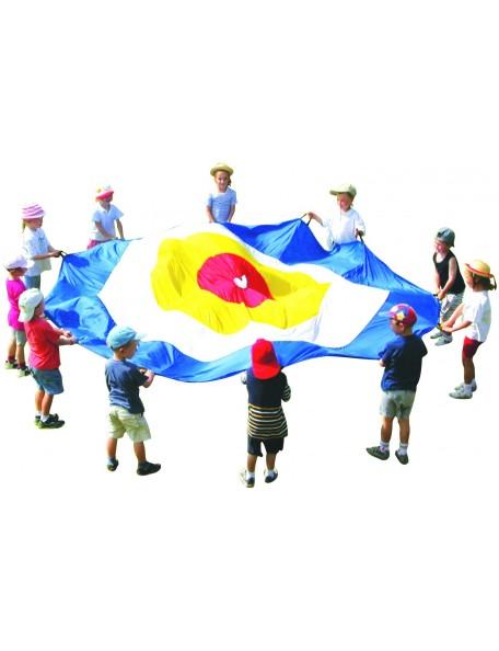 Jeu du parachute cible, matériel de jeu coopératif de parachute cible pour enfants
